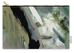 Carry-all Pouch featuring the painting green stripe II by John Jr Gholson