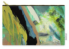 Carry-all Pouch featuring the painting Green Stripe by John Jr Gholson