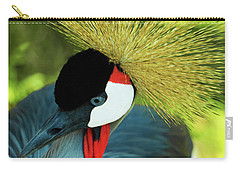 Carry-all Pouch featuring the painting Grey Crowned Crane Gulf Shores Ab A101218 by Mas Art Studio
