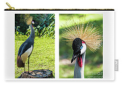 Grey Crowned Crane Gulf Shores Al Collage 8 Diptych Carry-all Pouch