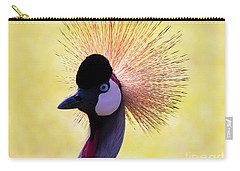 Carry-all Pouch featuring the painting Grey Crowned Crane Gulf Shores Bl A101218 by Mas Art Studio