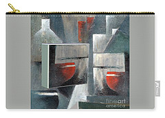 Carry-all Pouch featuring the painting Reflections by Val Byrne