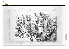 Carry-all Pouch featuring the photograph Grey Trio by Brad Allen Fine Art