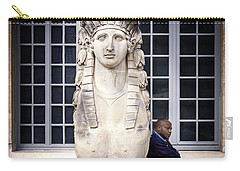 Carry-all Pouch featuring the photograph Guardians Of Picasso's Museum by Craig J Satterlee