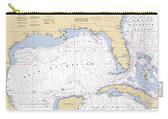 Gulf Of Mexico, Noaa Chart 411 Carry-all Pouch
