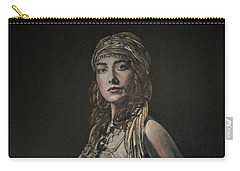 Carry-all Pouch featuring the painting Gypsy Portrait by John Neeve
