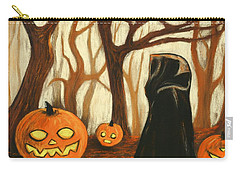 Carry-all Pouch featuring the painting Halloween Forest by Anastasiya Malakhova