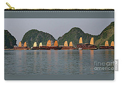 Carry-all Pouch featuring the photograph Halong Bay--waiting For Sunrise by PJ Boylan