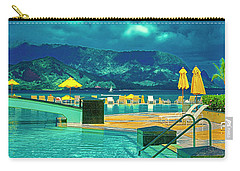 Carry-all Pouch featuring the photograph Hanalei Bay Bali Hai Hawaii by Tom Jelen