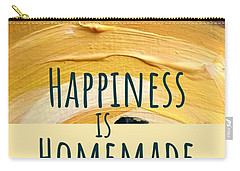 Carry-all Pouch featuring the painting Happiness Is Homemade #2 by Maria Langgle