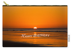 Happy Birthday At The Beach Carry-all Pouch