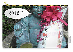 Carry-all Pouch featuring the painting Christmas Wishes To Everyone by Val Byrne