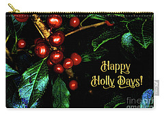 Happy Holly Days Carry-all Pouch