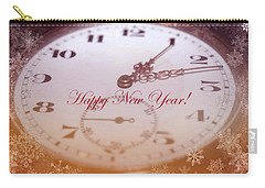 Happy New Year With Decorative And Nostalgic Theme. Carry-all Pouch