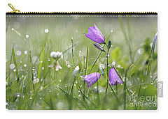 Harebells And Water Drops Carry-all Pouch