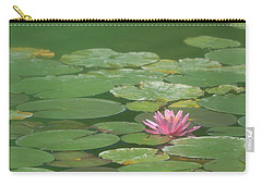 Harmonious Pink Waterlily Carry-all Pouch