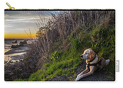 Carry-all Pouch featuring the photograph Harris Beach Sunset by Matthew Irvin