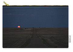Carry-all Pouch featuring the photograph Harvest Moon 1 by Carl Young