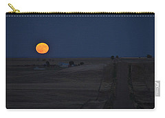 Carry-all Pouch featuring the photograph Harvest Moon 2 by Carl Young