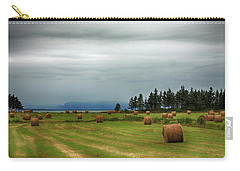 Carry-all Pouch featuring the photograph Harvest Time In Canada by Tatiana Travelways