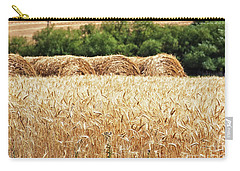 Carry-all Pouch featuring the photograph Harvest Time In Idaho by Tatiana Travelways