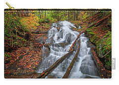Carry-all Pouch featuring the photograph Hatch Brook Falls Autumn by Bill Wakeley