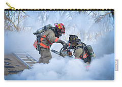 Carry-all Pouch featuring the photograph Hazardous Duty by Carl Young