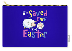 He Save Ewe On Easter Cute Easter Shirts Kids Carry-all Pouch