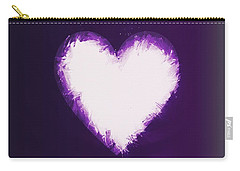Heart Of Purple Carry-all Pouch