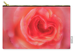 Carry-all Pouch featuring the photograph Heart Of The Rose by Mary Jo Allen