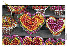 Carry-all Pouch featuring the photograph Hearts Of Flowers by PJ Boylan