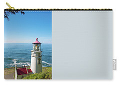 Carry-all Pouch featuring the photograph Heceta Head Lighthouse Oregon by Rospotte Photography