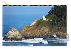 Carry-all Pouch featuring the photograph Heceta Head Lighthouse1107 by Rospotte Photography