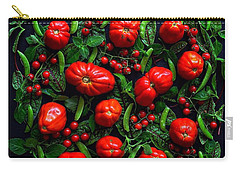 Heirloom Tomatoes And Peas Carry-all Pouch