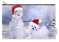 Hermes And Snowman Carry-all Pouch