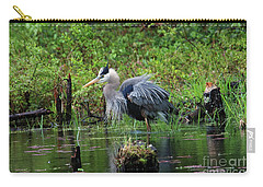 Heron In Beaver Pond Carry-all Pouch
