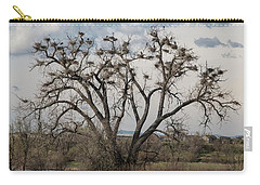 Carry-all Pouch featuring the photograph Heronry by Jon Burch Photography