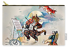 Carry-all Pouch featuring the digital art Hey Diddle Diddle by Pennie McCracken