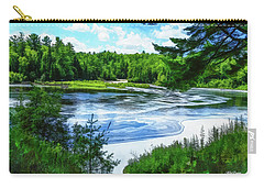 Carry-all Pouch featuring the photograph Hiawatha's River by Mike Braun