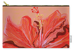 Hibiscus Color Lines Carry-all Pouch