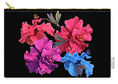 Hibiscus Dragonfly Carry-all Pouch