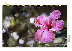Carry-all Pouch featuring the photograph Hibiscus Flower Bloom by Pablo Avanzini