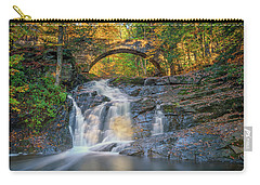 Carry-all Pouch featuring the photograph High Arch Bridge In Vaughan Woods by Rick Berk