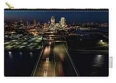 Carry-all Pouch featuring the photograph Hoan Bridge Streaks by Randy Scherkenbach
