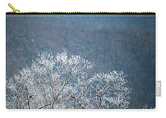 Hoarfrost Collects On Branches Carry-all Pouch
