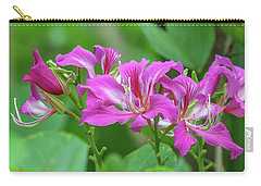 Carry-all Pouch featuring the photograph Hong Kong Orchid Tree Dthn0263 by Gerry Gantt
