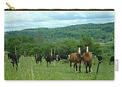 Horse And Cow Carry-all Pouch