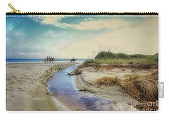 Horses Along The Beach Carry-all Pouch