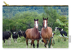 Horses And Cows.  Carry-all Pouch