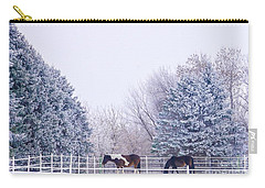 Horses In The Snow Carry-all Pouch